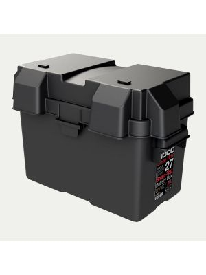 HM327BK - Group 27 Snap-Top Battery Box - 12V Automotive Marine RV Battery Box Storage